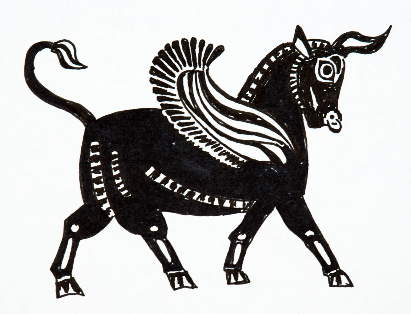 Toro Ancient Bull Illustration