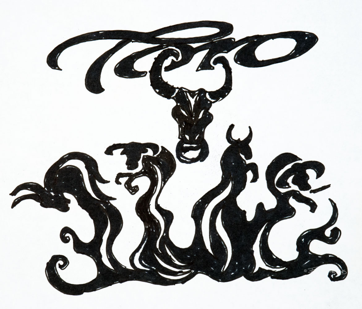 Toro Flames Illustration