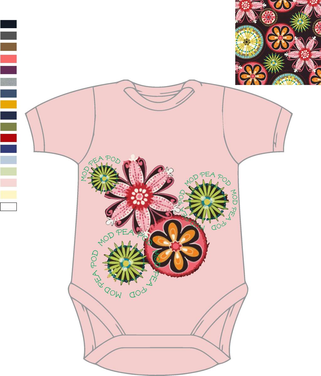 Mod PeaPod Flower pattern