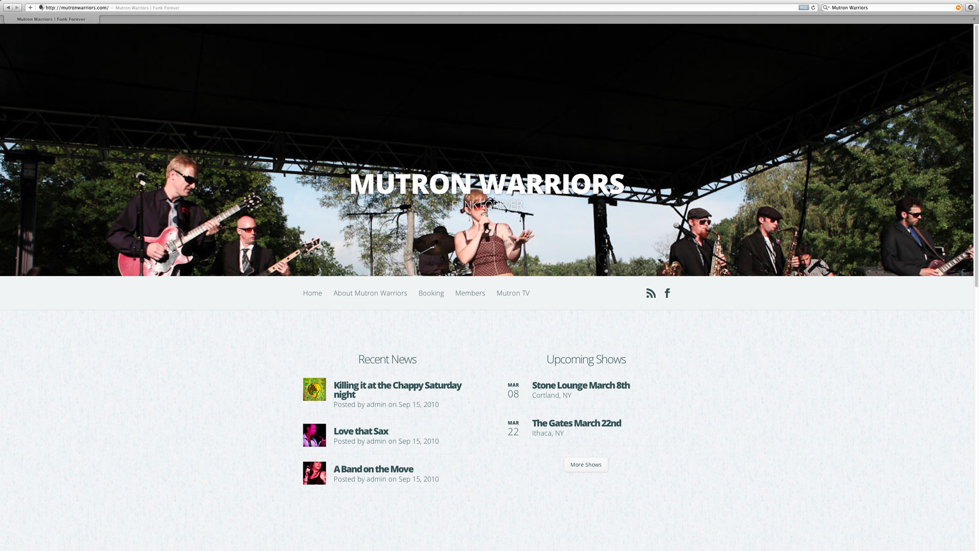 Mutron Warriors Website